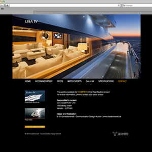 LISA IV Yacht – Website