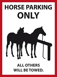 La Vaca Rica - Horse Sign