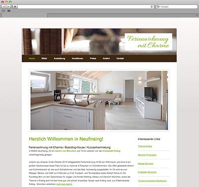 Ferienwohnung mit Charme – Website